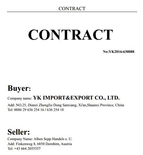 YK Contract China