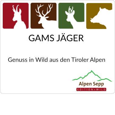 Gams Jäger vom Tiroler Alpenwild GAMS
