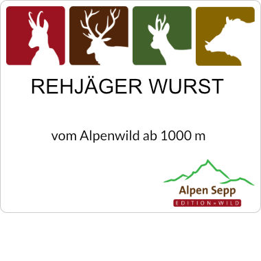 Rehjäger Alpenwild Wurst Kantwurst