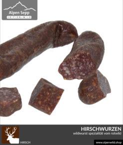Hirsch Geier Wally - Wildwurst Spezialität vom Rehwild