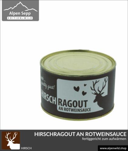 Hirschragout Hirschgulasch an Rotweinsauce