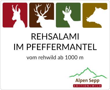 Rehsalami im Pfeffermantel
