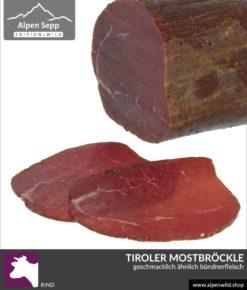Tiroler Mostbröckle, geschmacklich ähnlich Bündnerfleisch