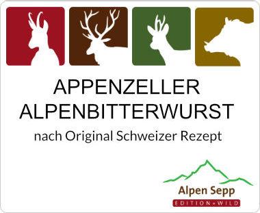 Appenzeller Alpenbitterwurst mit Appenzeller Kräuterlikör