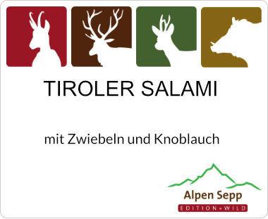 Tiroler Salami mit Rindfleisch und Schweinefleisch