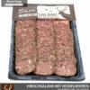 Hirschsalami mit Heidelbeeren im Pfeffermantel – geschnitten