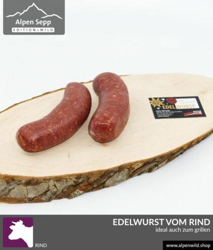 Edelwurst vom Rind, auch zum grillen