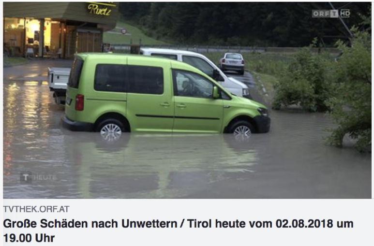 Bericht zum Unwetter vom ORF TV Thek